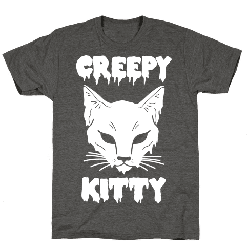 Creepy Kitty Mens/Unisex T-Shirt