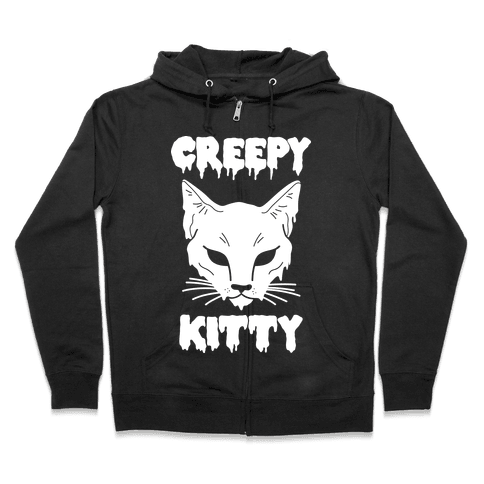 Creepy Kitty Zip Hoodie