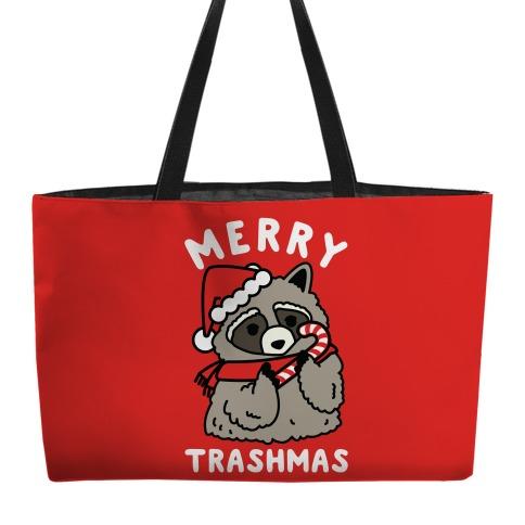 Merry Trashmas Raccoon Weekender Tote