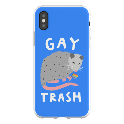 Gay Trash Opossum Phone Flexi-Case