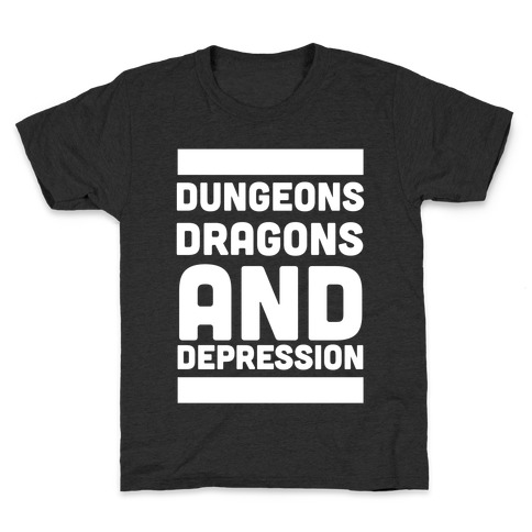 Dungeons, Dragons and Depression Kids T-Shirt