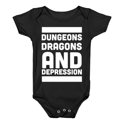 Dungeons, Dragons and Depression  Baby Onesy