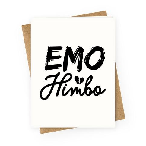 Emo Himbo Greeting Card
