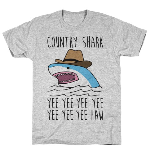 Country Shark Yee Haw T-Shirt