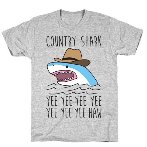 Country Shark Yee Haw T-Shirt