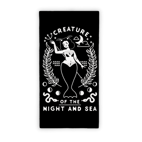 Creature of the Night and Sea Beach Towel