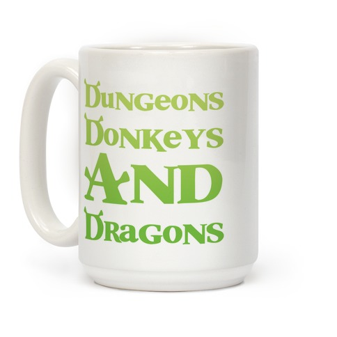 Dungeons, Donkeys and Dragons Coffee Mug