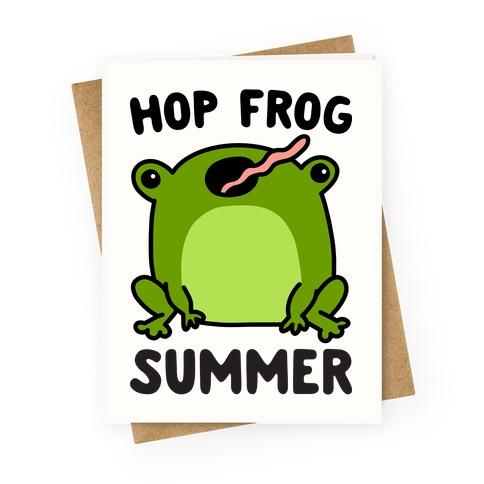 Hop Frog Summer Greeting Card