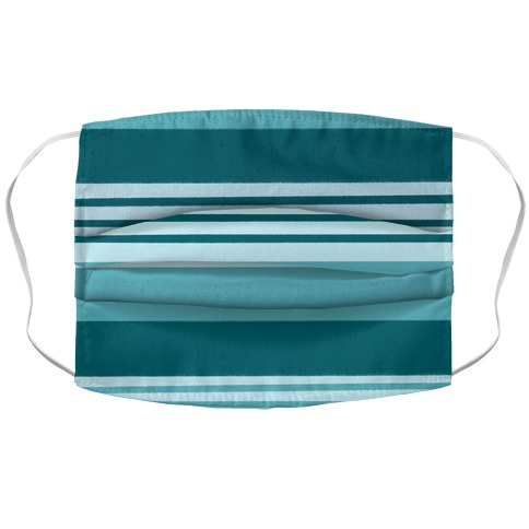 Turquoise Horizontal Stripes Face Mask