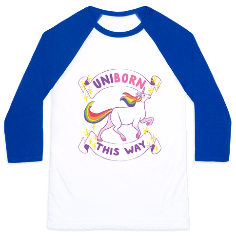 Uniborn This Way Baseball Tee
