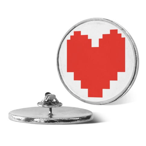 Undertale Pixel Heart Pin