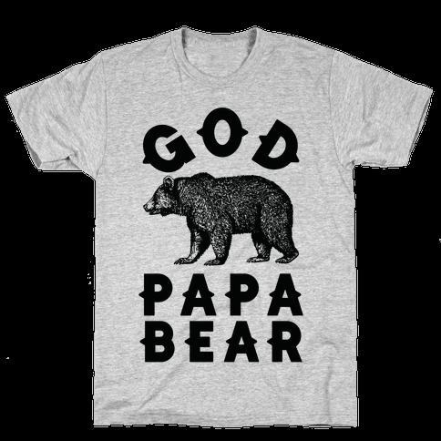 God Papa Bear Mens T-Shirt