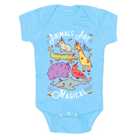 Animals Are Magical Baby Onesy