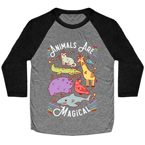 Animals Are Magical Baseball Tee