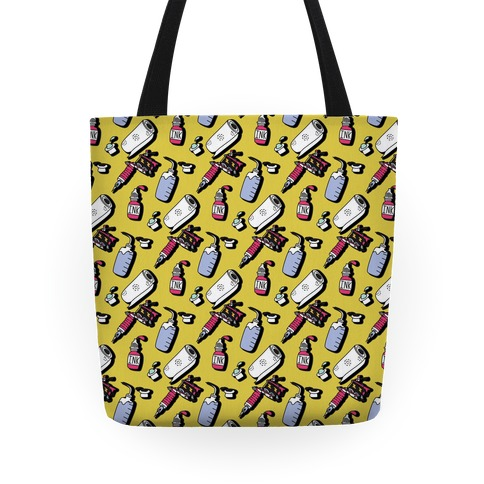 Tattoo Supplies Pattern Tote