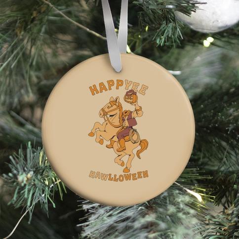 HappYEE HAWlloween Headless Cowboy Ornament