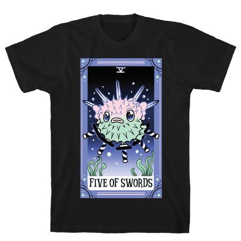 Creepy Cute Tarots: Five of Swords T-Shirt