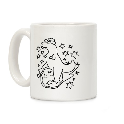 T-Rex Riding a Meteor Coffee Mug