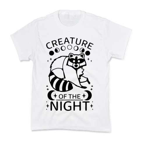 Creature Of The Night Raccoon Kids T-Shirt