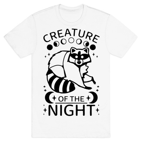 Creature Of The Night Raccoon T-Shirt
