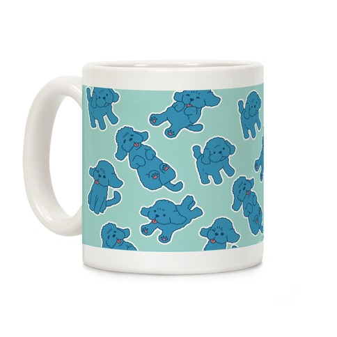 Yuri Blue Poodle Coffee Mug