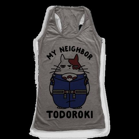My Neighbor Todoroki Racerback Tank Top