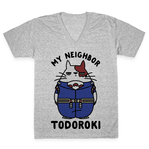 My Neighbor Todoroki V-Neck Tee Shirt