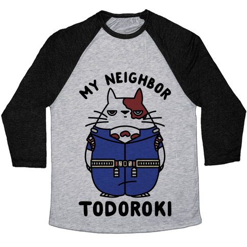 My Neighbor Todoroki Baseball Tee
