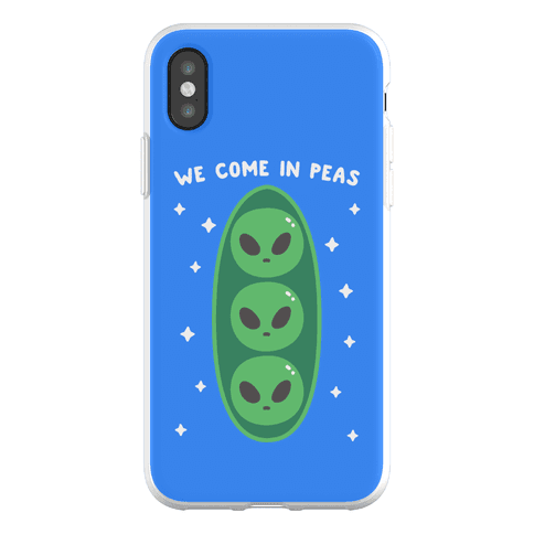 We Come In Peas Phone Flexi-Case