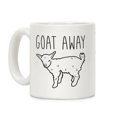 Goat Away Coffee Mug