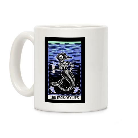 The Page of Cups Deep Sea Mermaid and Sea Angels Tarot Card Coffee Mug