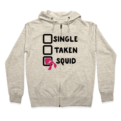 Single Taken Squid Parody Zip Hoodie