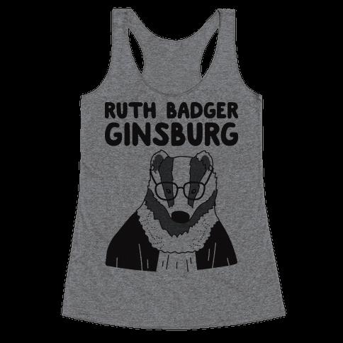 Ruth Badger Ginsburg Racerback Tank Top