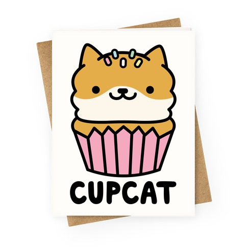 Cupcat Greeting Card