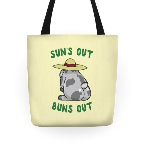 Sun's Out Buns Out Bunny Tote