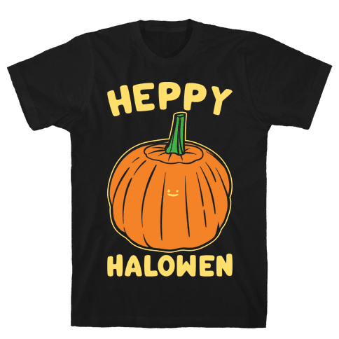 Heppy Halowen Parody White Print Mens T-Shirt