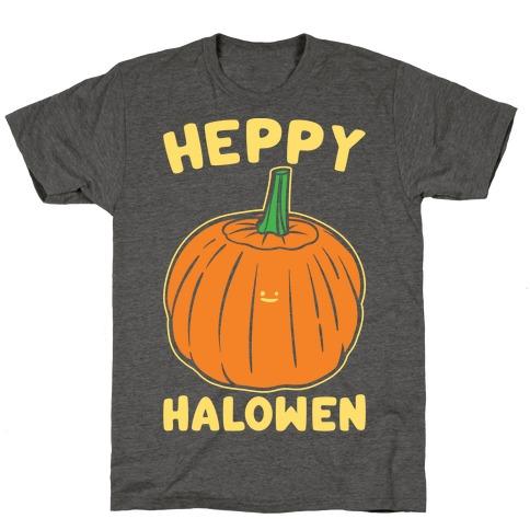 Heppy Halowen Parody White Print T-Shirt