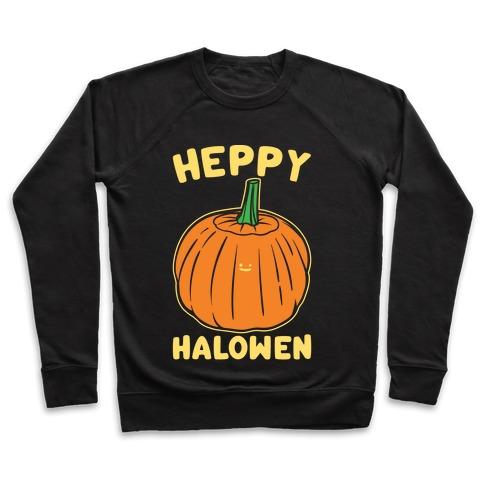 Heppy Halowen Parody White Print Pullover