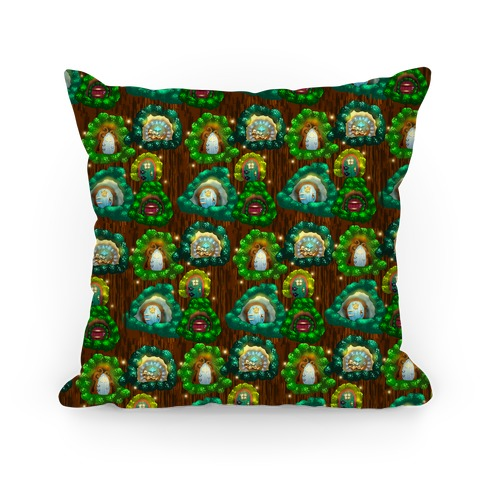 Fairy Cottage Doors Pattern Pillow