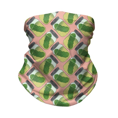 Perfect Pickle Pattern Neck Gaiter