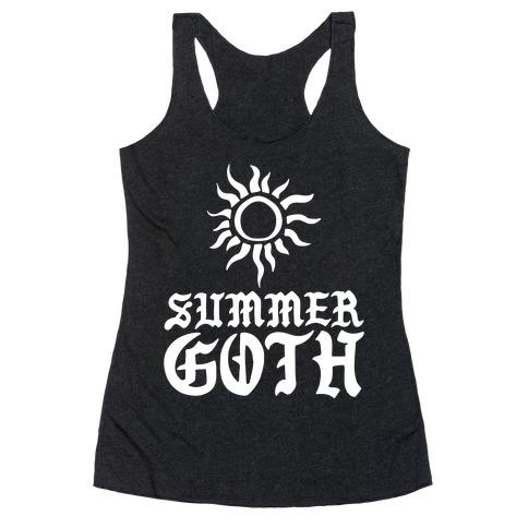 Summer Goth Racerback Tank Top