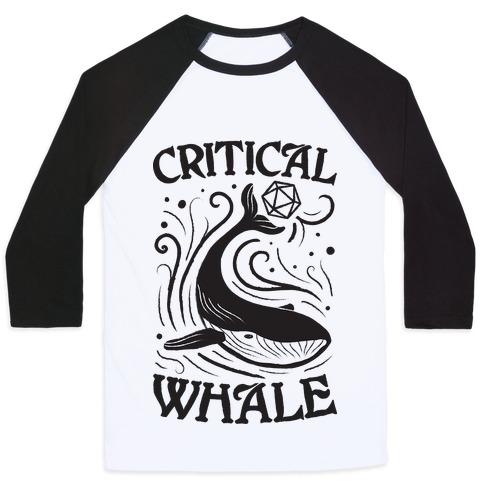 Critical Whale Baseball Tee