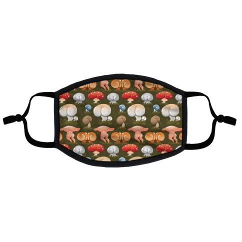 Butt Mushroom Pattern Flat Face Mask