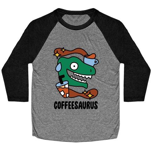 Coffeesaurus Baseball Tee