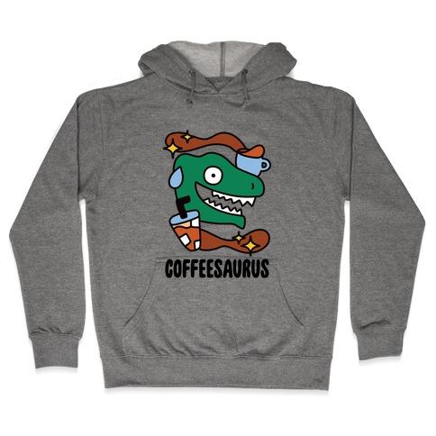 Coffeesaurus Hooded Sweatshirt