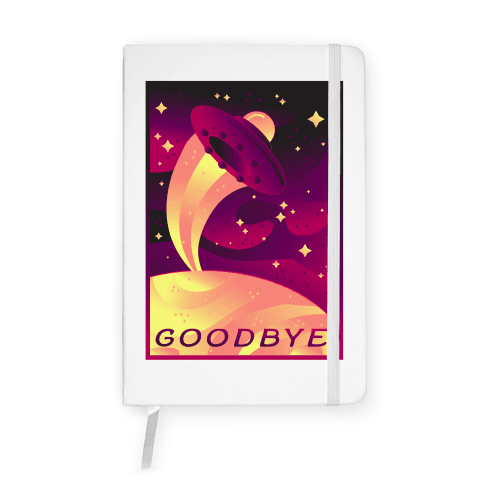 Goodbye Earth Travel Poster Notebook