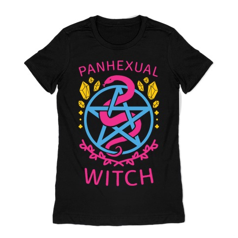 Panhexual Witch Womens T-Shirt