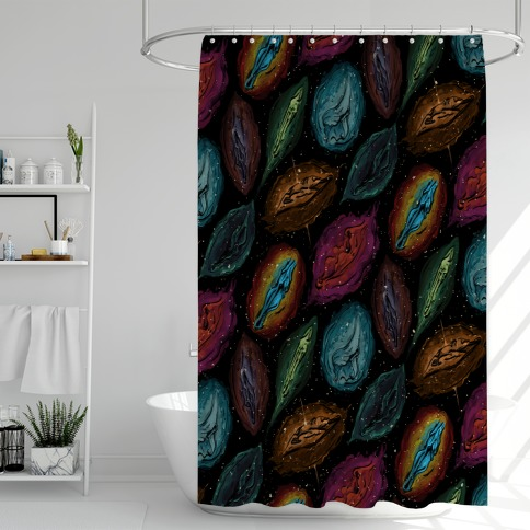 Cosmic Vulva Pattern Shower Curtain