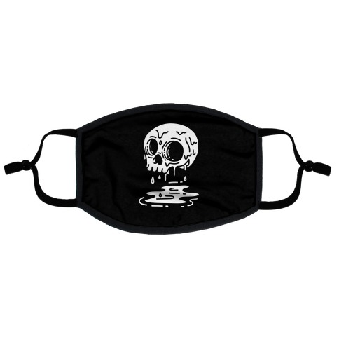 Melting Skull Flat Face Mask