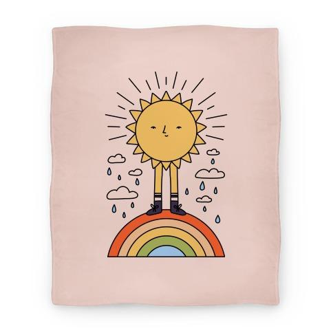 Solar Power Rainbow Blanket